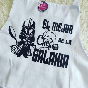 delantal personalizado star wars chef